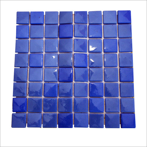 Blue Glossy Mosaic Tiles