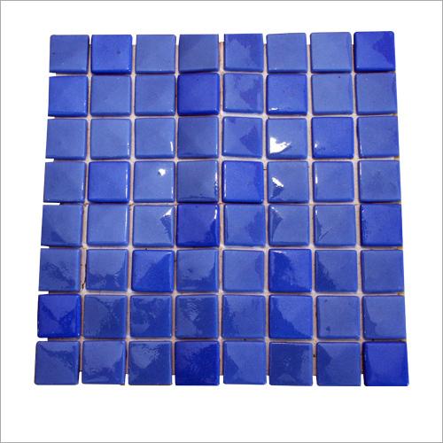 Blue Glossy Mosaic Tiles