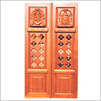 Traditional Carved Temple Door