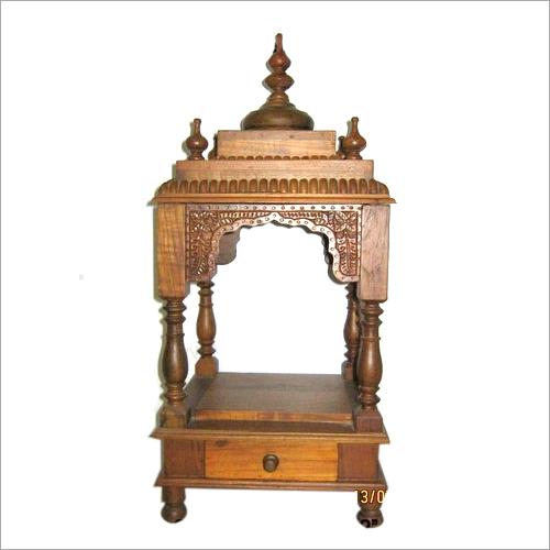 Teak wood Home Wooden Mandir date is displayed