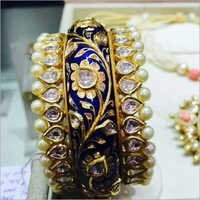 Beautiful Jadau Gold Kada