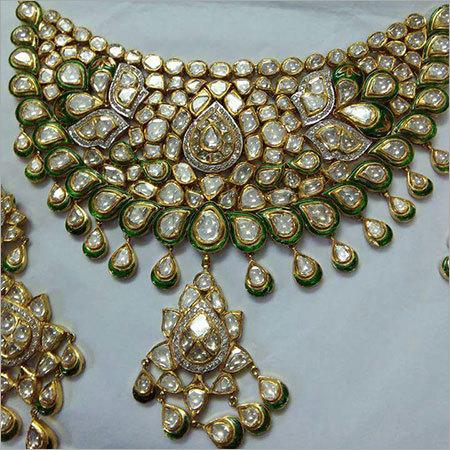 Antique Gold Polki Necklace