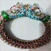 Gold Kundan Jadau Bracelets