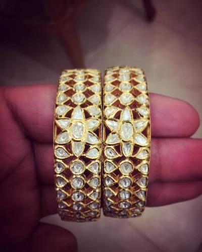 Gold Jadau Bangles