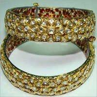 Gold Polki Diamond Bangle