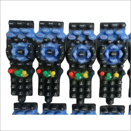 TV Remote Rubber Keypad