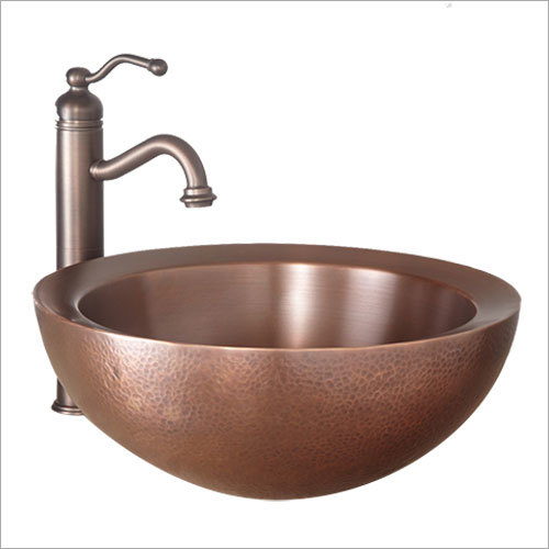 Casalina Double Wall 16 Hammered Copper Vessel Sink