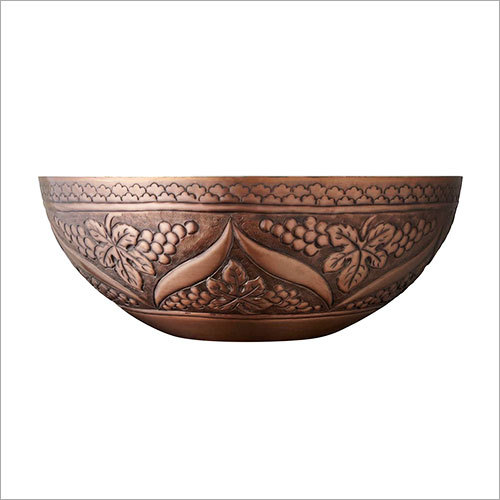 Blane Double Wall 16 Hammered Copper Vessel Sink
