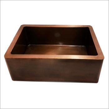 Front Apron Copper Kitchen Sink