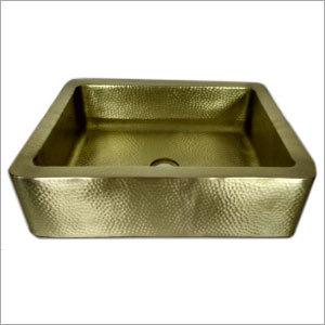 Rectangle Counter Brass Kitchen Sink