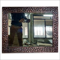 Rectangular Stone Design Antique Copper Mirror