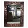 Rectangular Leader Design Copper Mirror - Antique Copper