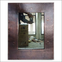 Rectangular Hammered Copper Mirror - Antique Copper