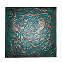 Copper Tiles with Leaves Design