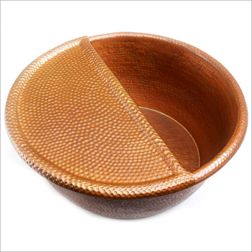 Spa (Ped20+fr) Foot Soak Hammered Copper Pedicure Bowl With Removable Foot Rest