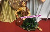 Rajasthani Lady Statue Matka in Hand