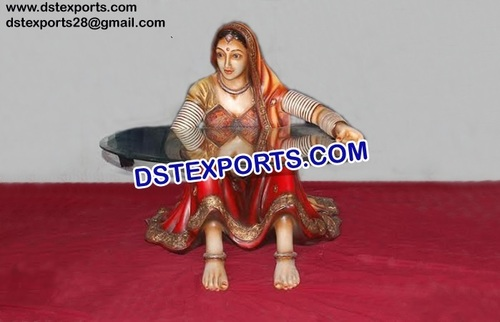 Rajasthani Fiber Statue Cum Table