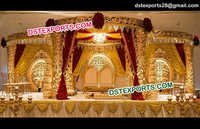 Golden Fiber Wedding Mandap