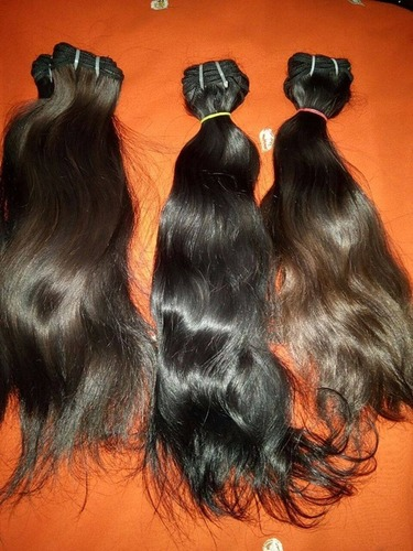 Brown human hair