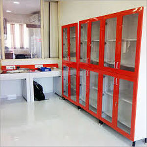 Glass Door Lab Wall Cupboard