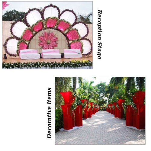 Reception Stage & Decorative Items