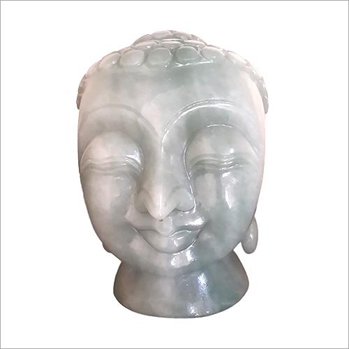 Jade Stone Buddha Face Statues