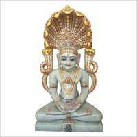 Jade Stone Jain Parshwnath Statue