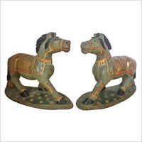Decorative Horse pair jade stone