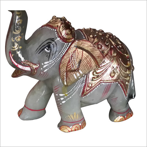 Carved Elephant Marble Statue