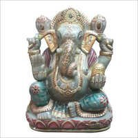 Lord Ganesha Statue Jade Stone