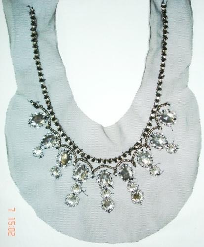 beaded neckline