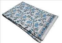手块打印的棉花花卉织品