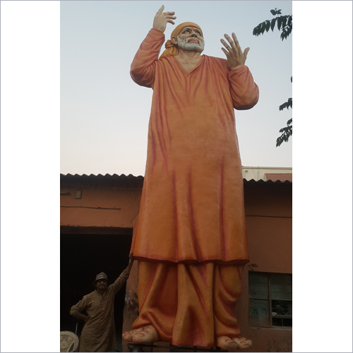 With Base 25 Feet Sant Shri Sai Baba Statue