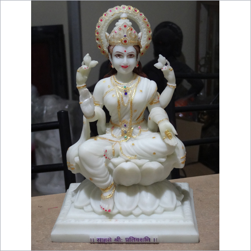 Lord Lakshmi Mata Marbal Statue10 inch -Cut Out