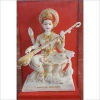 Lord Saraswati Mata Marbal Statue 10 inch