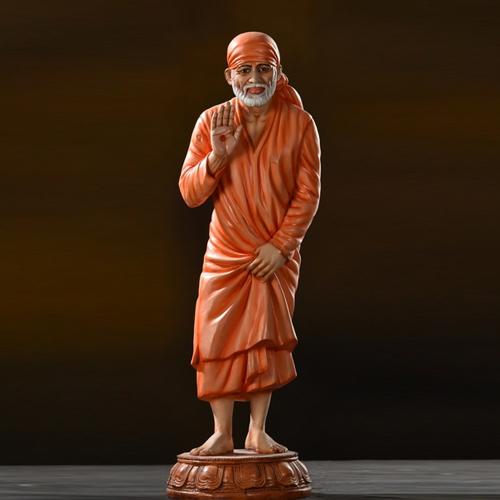 Sant Shri Sai Baba Statue 15 inch- Cut Out