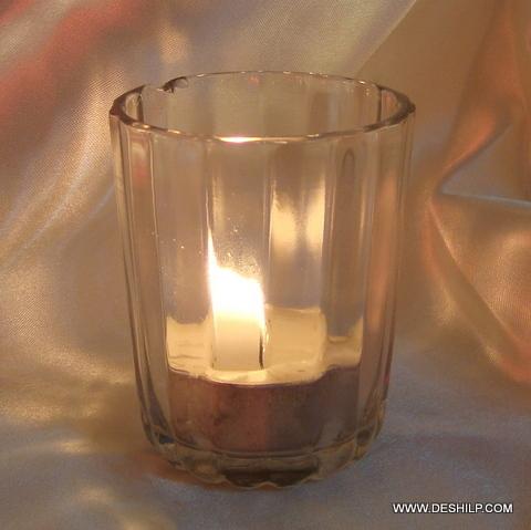 Candles glass Jar Candles Clear Cup votive romantic light votives