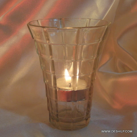 Candle holder Glass Hurricane Candle holder Glass Hurricane Tumbler Shape Candle