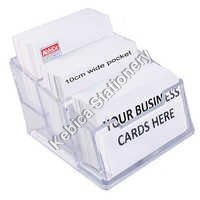 Business Card Case Holder Stand for Desk 3-Step