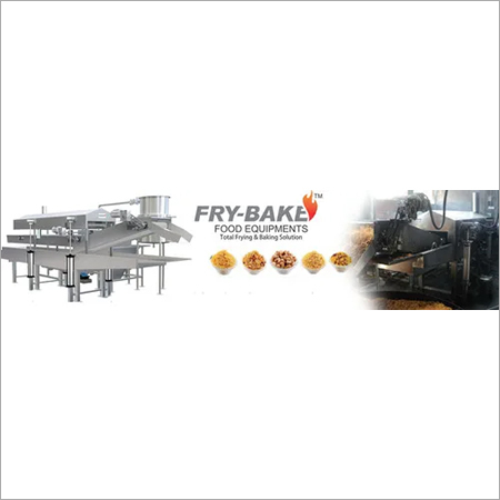 Continuous Namkeen Fryer with Wood Heat Exchanger