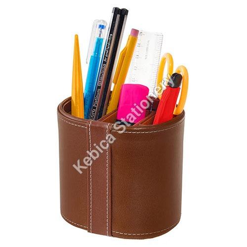 Faux Leather Pen Pencil Holder