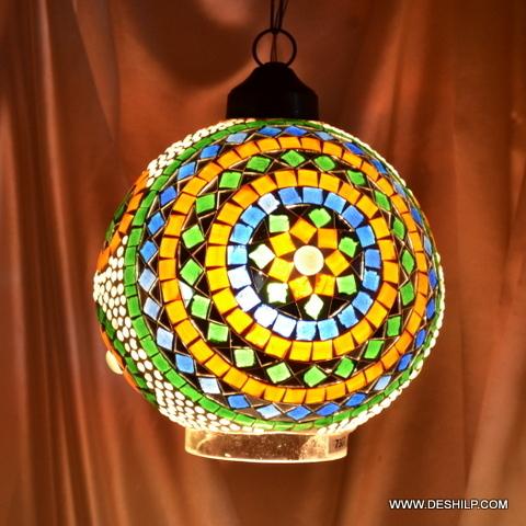 shade Mix color Sun Mosaic Glass Hanging Lamp