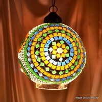 shade Mix color Sun Mosaic Glass Hanging Lamp
