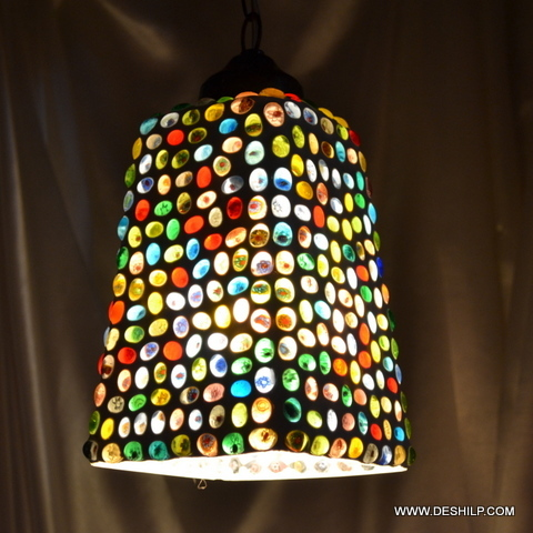 Hanging Smoke Glass Lamp Mosaic Hanging Lights