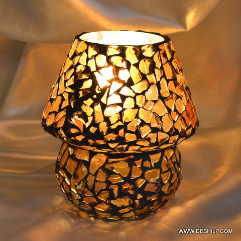 Festival lamp mosaic glass handcrafted home decor table lamp