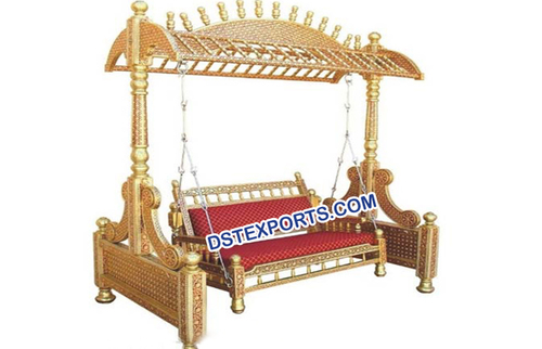 Golden Wooden Sankheda Swing