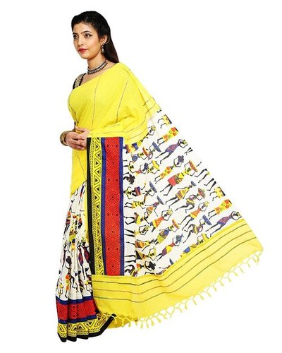 944f64976c27d    Previous Tant Ghar Women s Cotton khesh printed Gurjarii Saree with  printed blouse pc