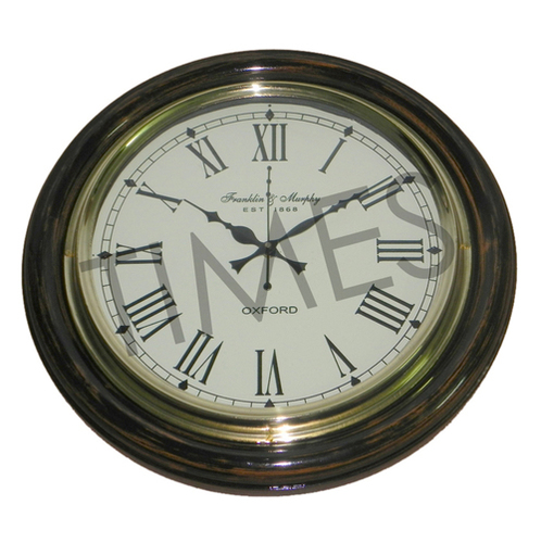 Nautical Wall Clock Brown