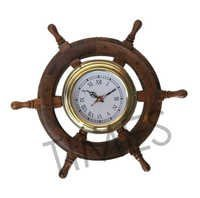 Ship Wheel Nautical Wall Clock