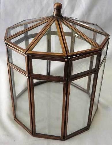 Glass & Brass Box